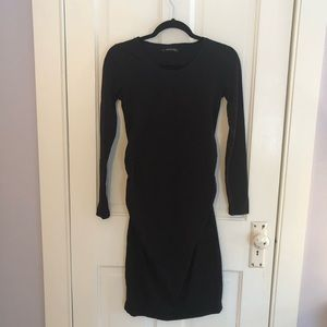 Imanimo Long Sleeve Ruched Maternity Dress